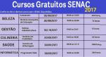 SENAC abre inscrições para diversos cursos totalmente GRÁTIS- Leia mais e saiba como se inscrever.