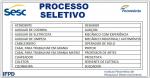 (Sesc) abre inscrições para processo seletivo de níveis fundamental, médio, técnico e superior.