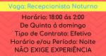 Vaga Para Recepcionista de hotel Noturno Salário R$ 1.480,00 + Adicional Noturno
