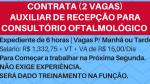 CONTRATA RECEPCIONISTAS PARA CONSULTÓRIO OFTALMOLÓGICO – 2 Vagas. Salário R$ 1.332,75!
