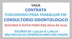 Vaga para Auxiliar de Dentista – Salário R$ 1.350,00 a 1.780,00